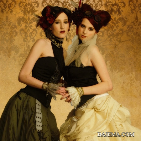 Bajemas Web - Portraits - Steampunk - Erika and Holly